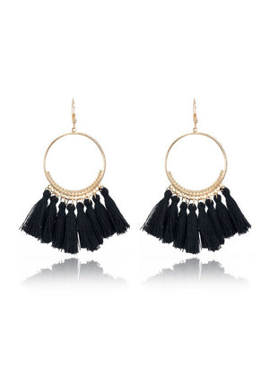 Black Tassel Earring