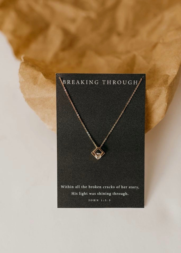 Breaking Through Necklace