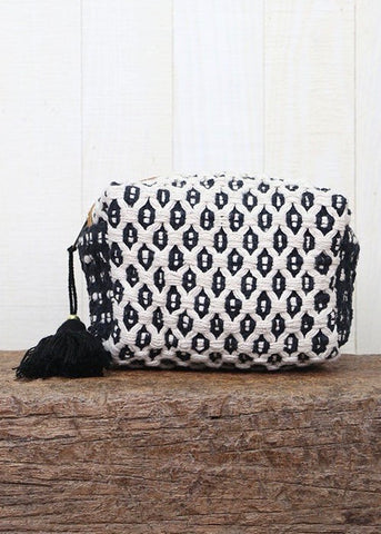 Black Tassel Oragami Make-Up Bag
