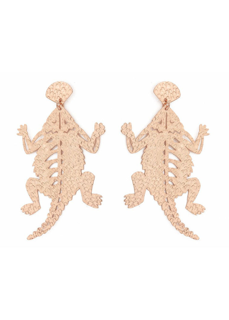 TCU Horned Frog Drop Earring