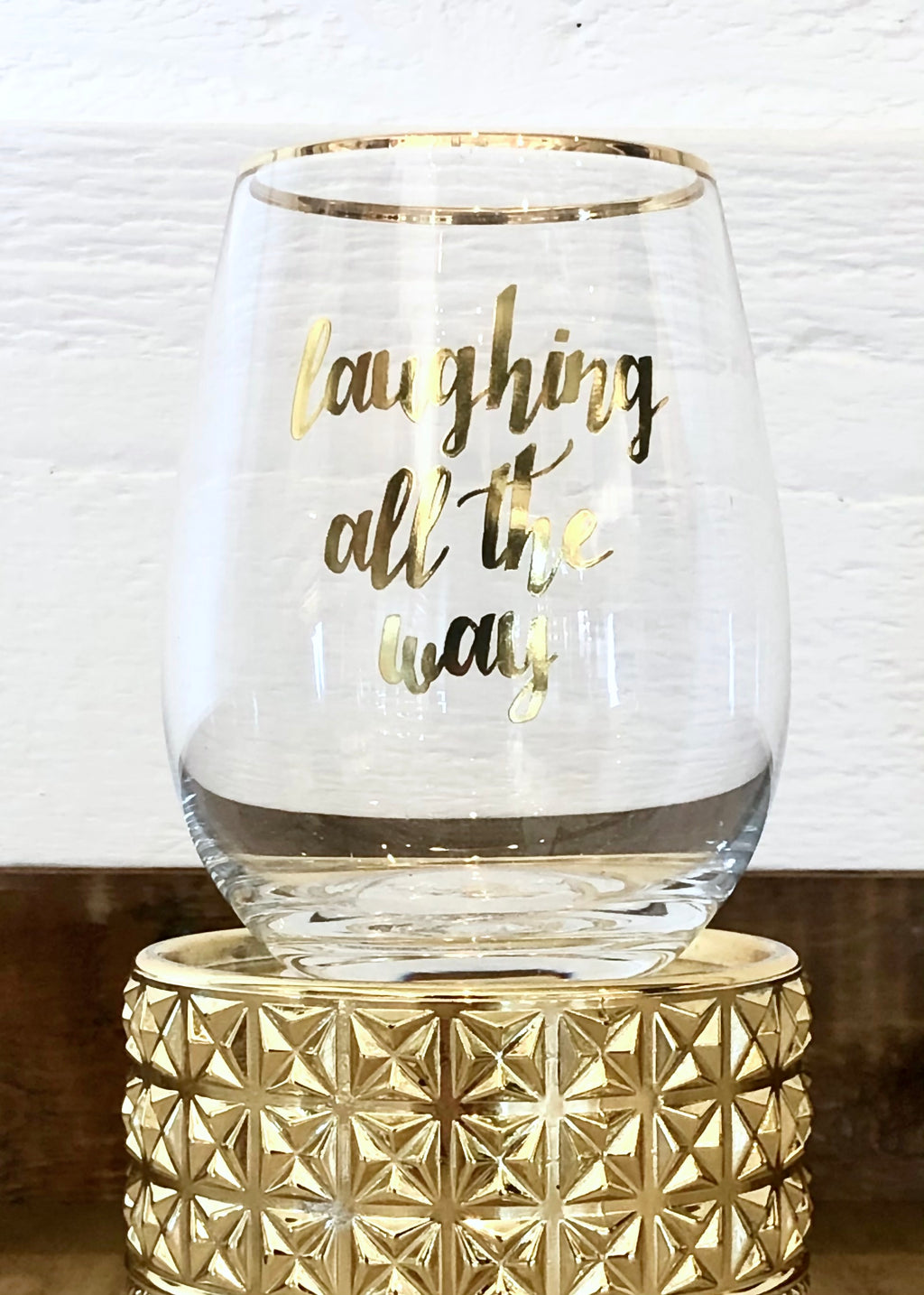 Holiday Stemless Wine Glass