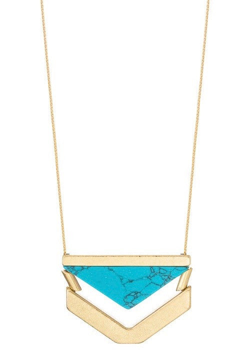 Triangle Stone Necklace