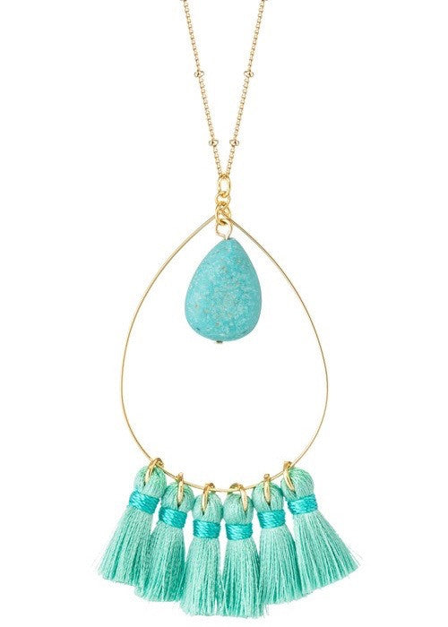 Tassel Teardrop Necklace