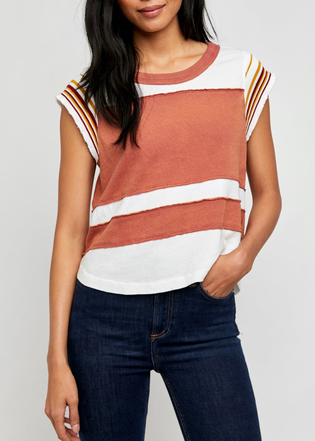 Hint of Stripe Tee