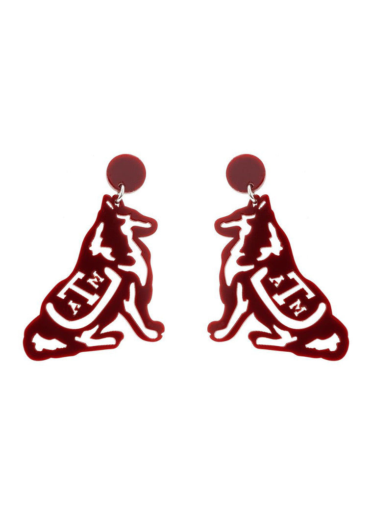 Texas A&M Reveille Drop Earring