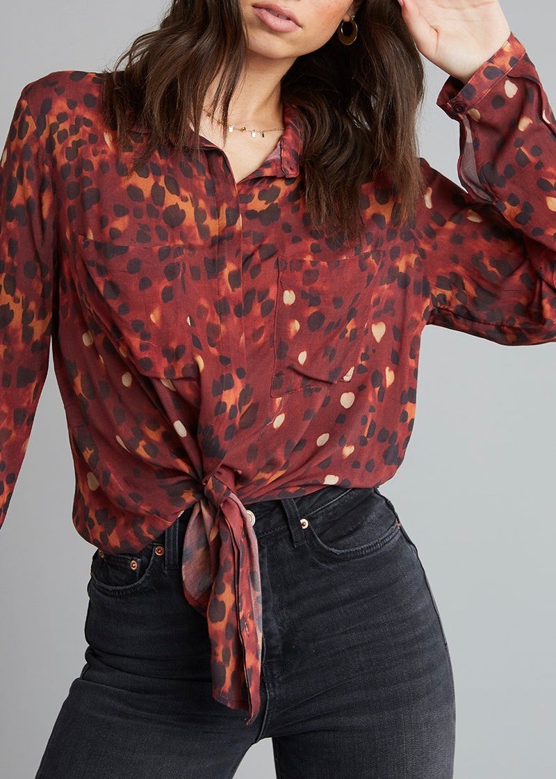 Leopard Hipster Button Down