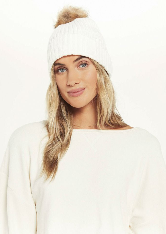 Cozy Up Rib Pom Beanie