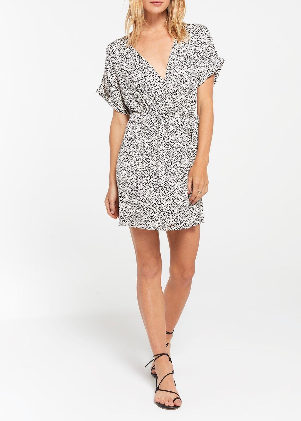 Torre Mini Leopard Wrap Dress