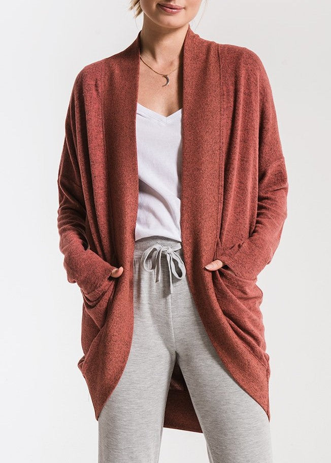 the marled sweater cocoon cardi