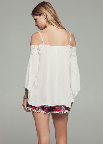 Angel Lace Cold Shoulder Top