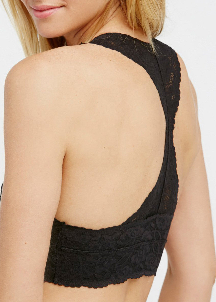 Galloon Lace Racerback - Black