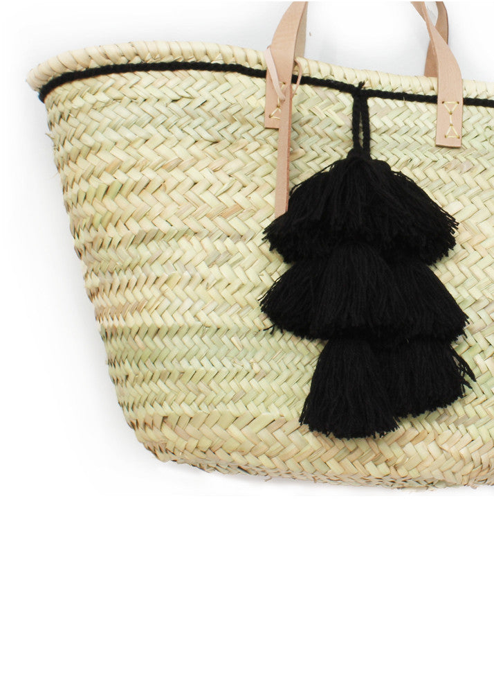 Black Tassel Basket