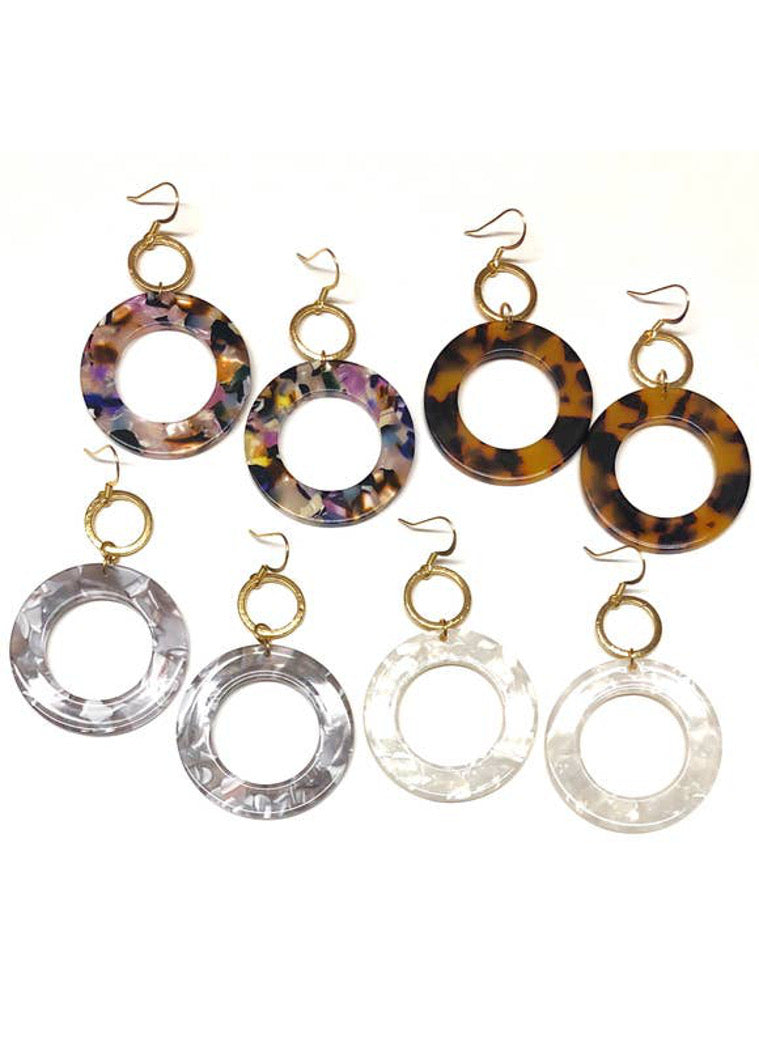 Claire Double Circle Earring