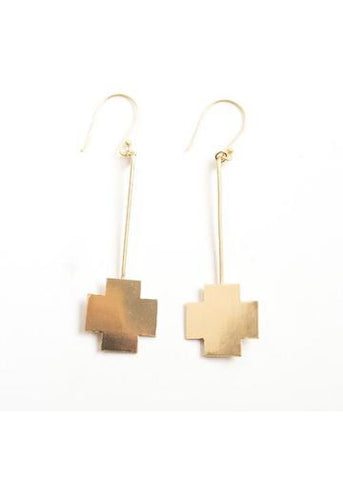 Small Cross Stick Earring