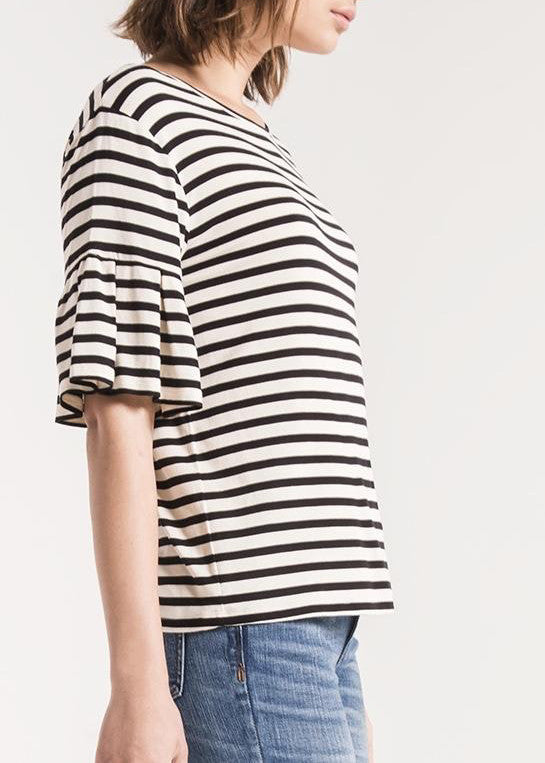 The Striped Ruffle Tee