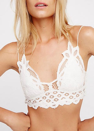 bralette, white, lacey, bra, intimates, lingerie, adella bralette, free people bralette, lace bralette, free people, free people bra, white bralette