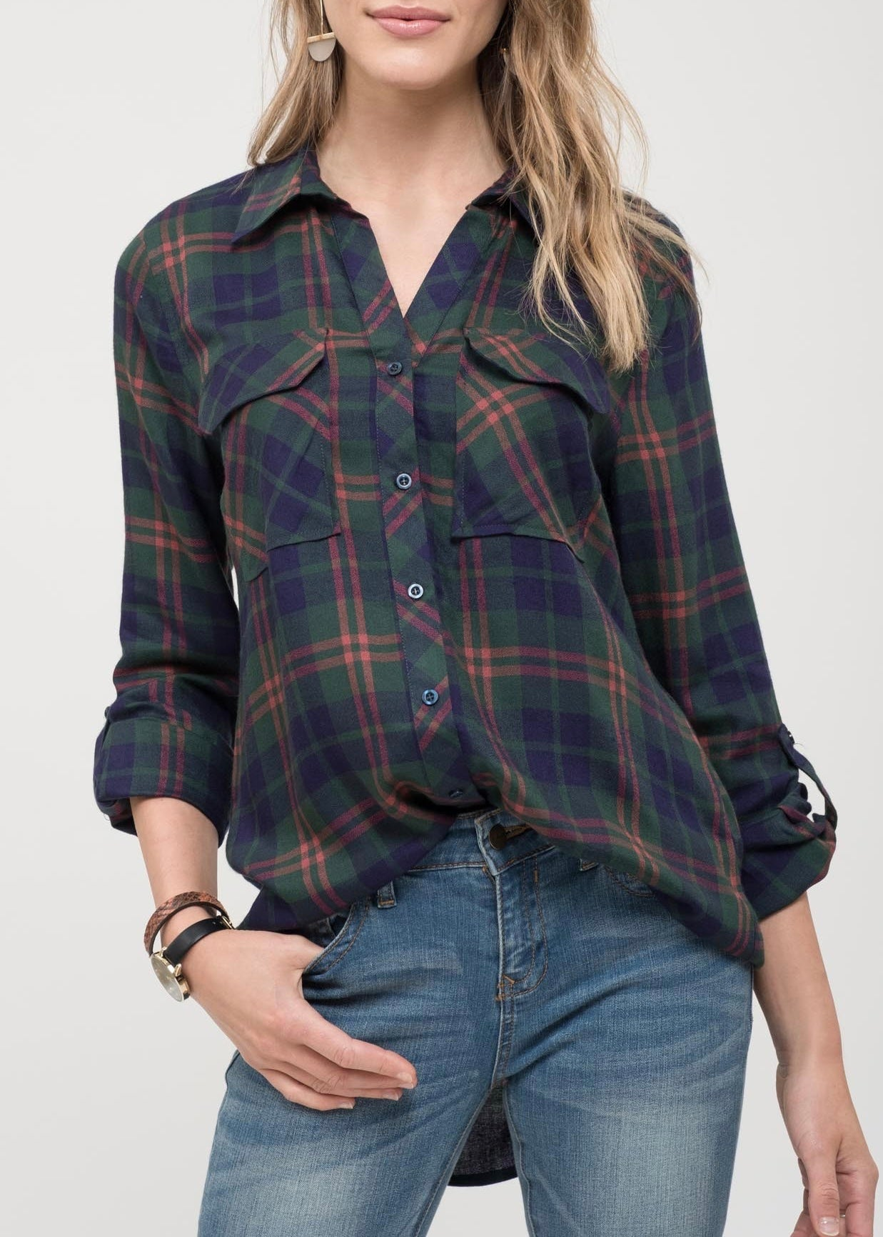 GF Plaid Button Up