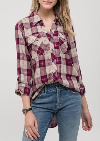 BF Plaid Button Up