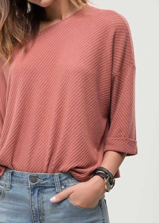 Cuffed Sleeve Tee