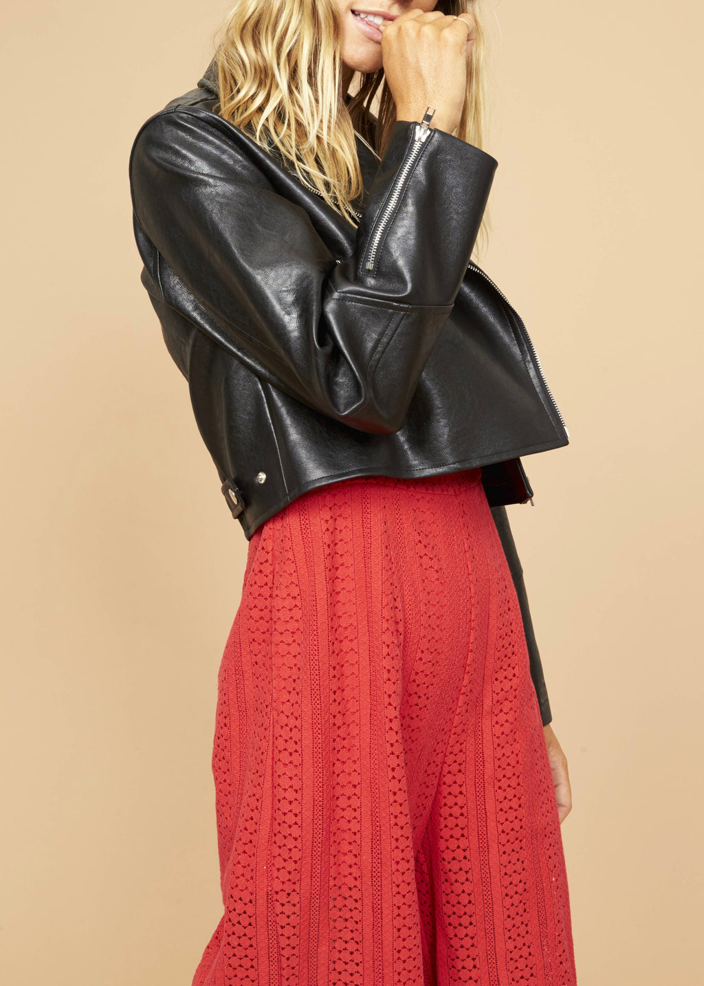 Nightrider Cropped Biker Jacket