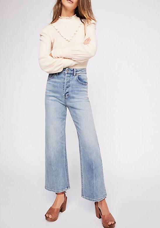 Free People Wide Leg Denim