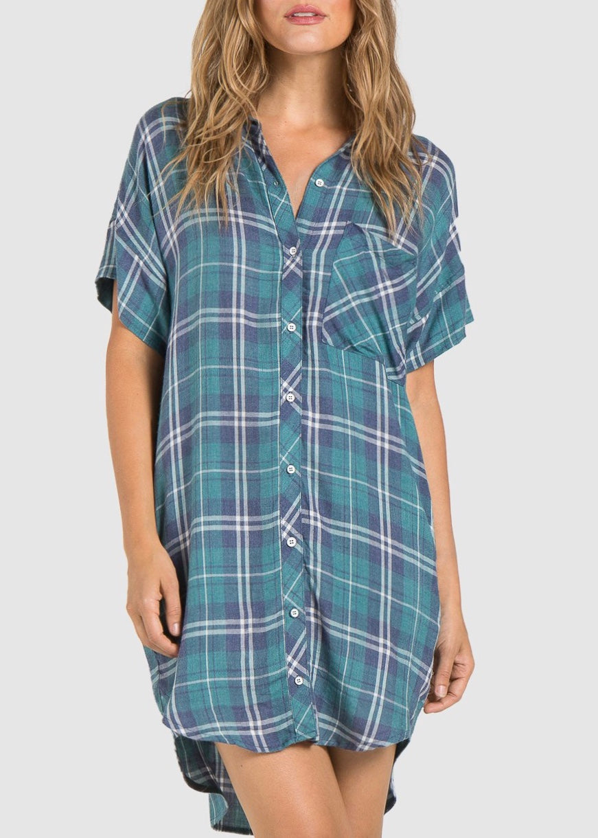 Capsleeve Pocket Shirt Dress