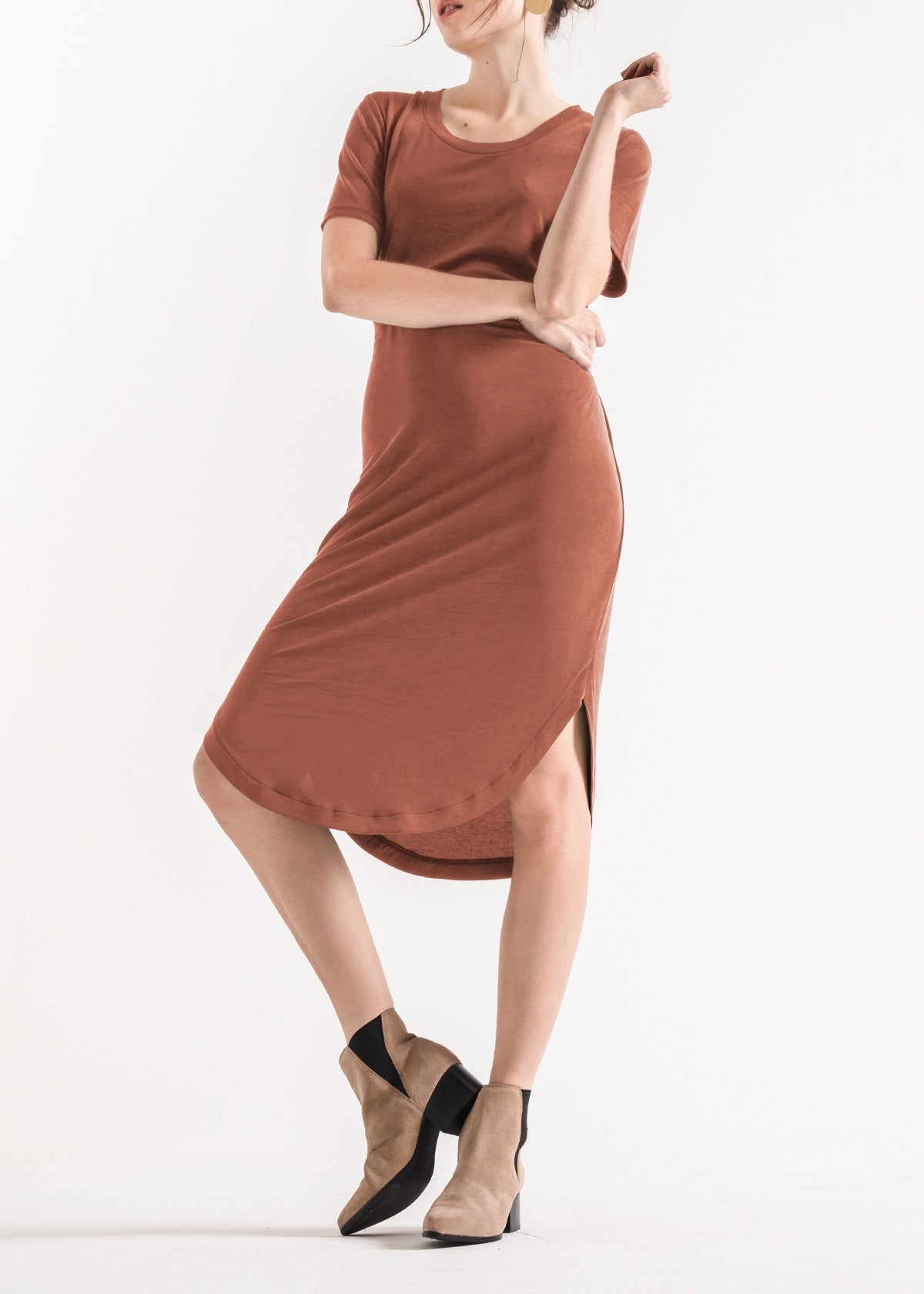 The Lux Modal Tie Waist Dress