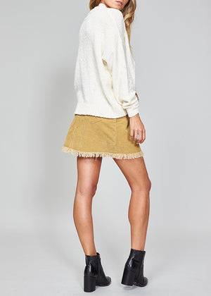 Empire Cord Mini Skirt