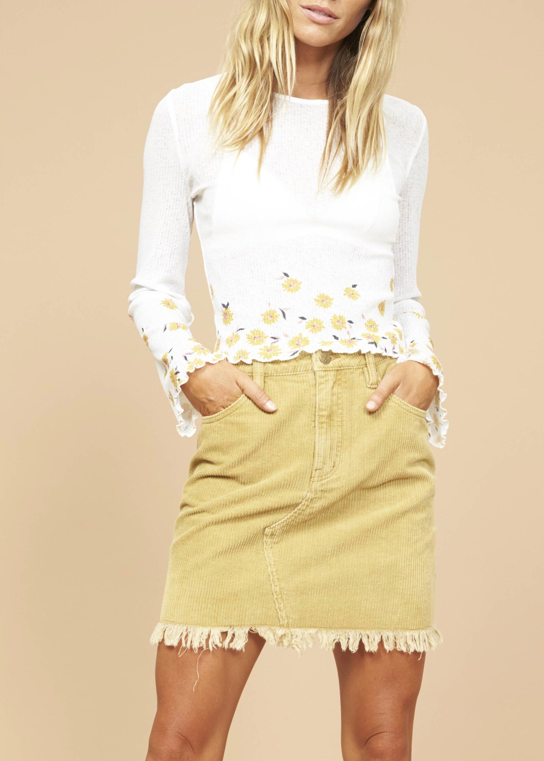 Daisy Field Mesh Top