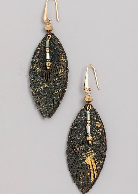 Freddy Leather Earring
