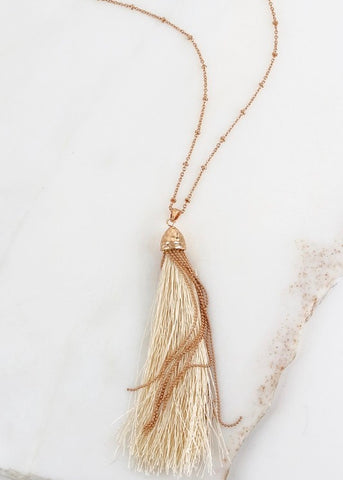 Faith Tassel Necklace