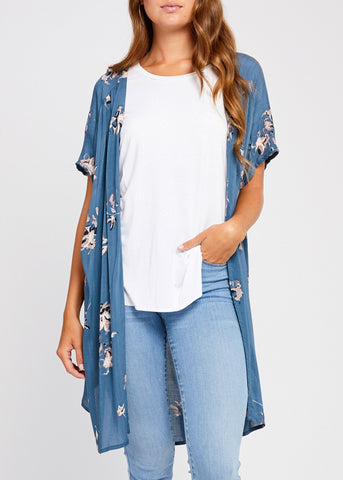 Night Garden Wrap Top