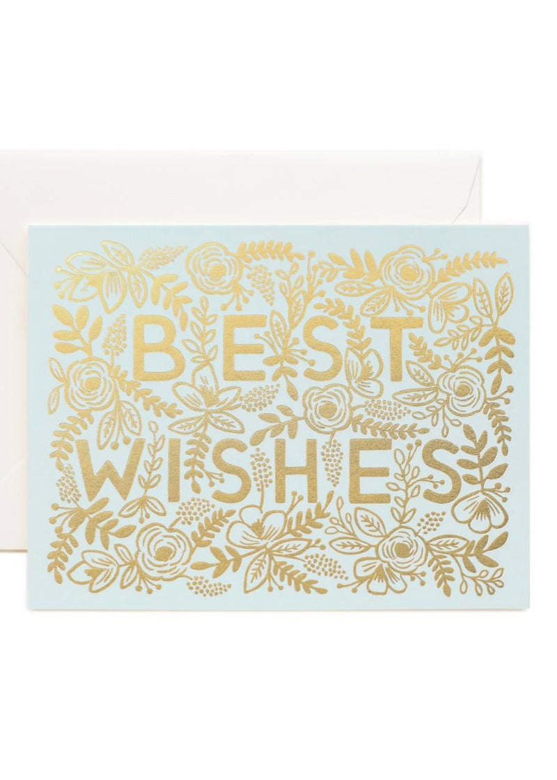 Golden Best Wishes Card