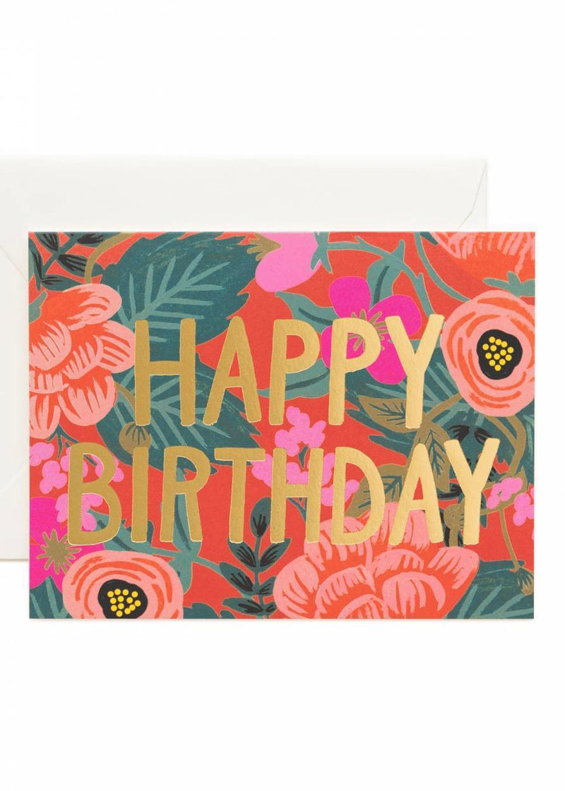 Poppy Birthday Card