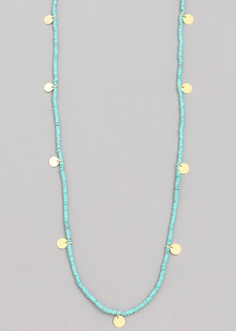 Beaded Mini Coin Necklace
