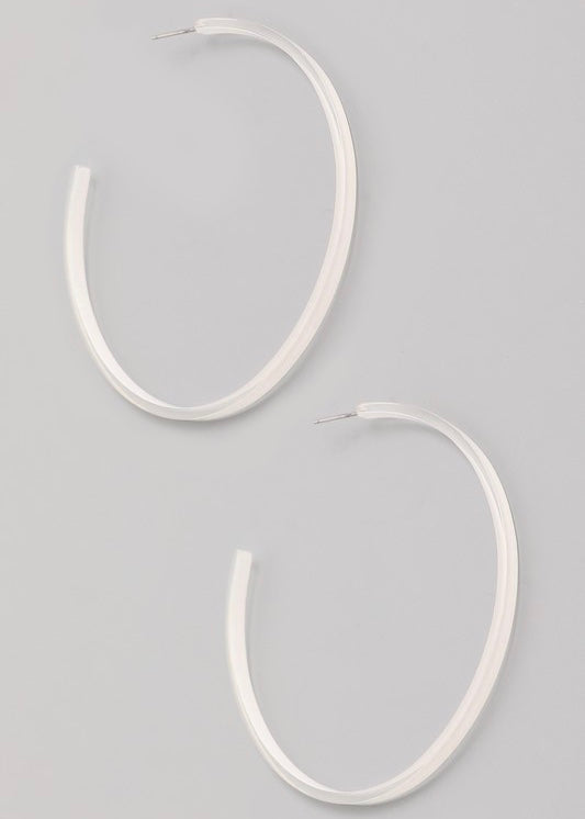 Resin Hoop Earring