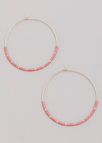 Beaded Wire Hoop