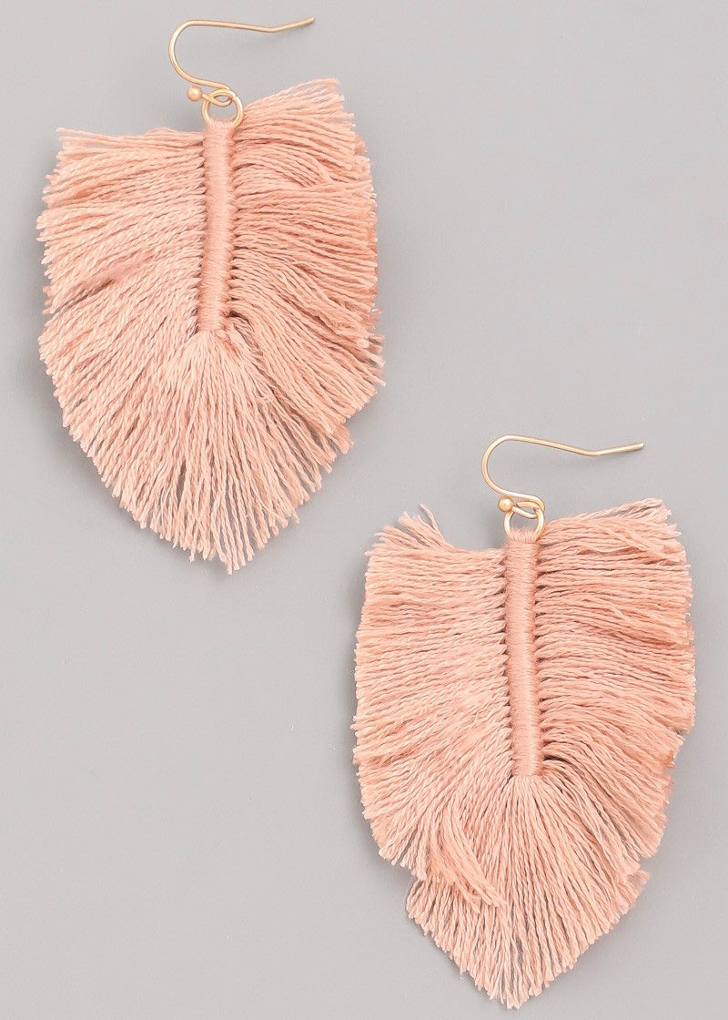 Threaded Fan Earring