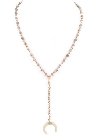 Crescent Lariat Necklace