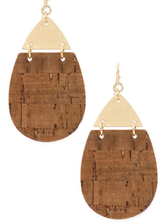 Cork Teardrop Earring