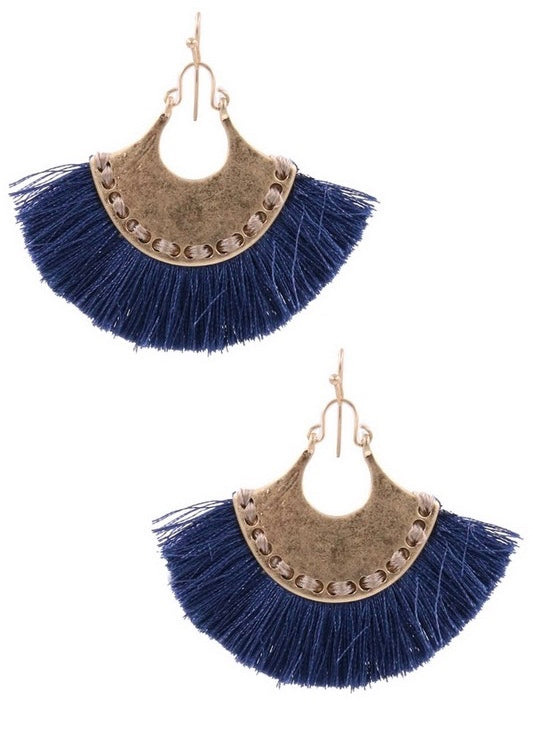 Hammered Fan Earring