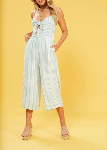 Low Tide Tie Front Jumpsuit