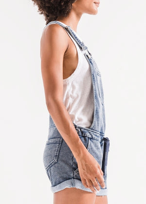 Knit Denim Shortalls