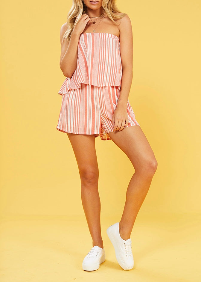 Ocean Side Stripe Playsuit