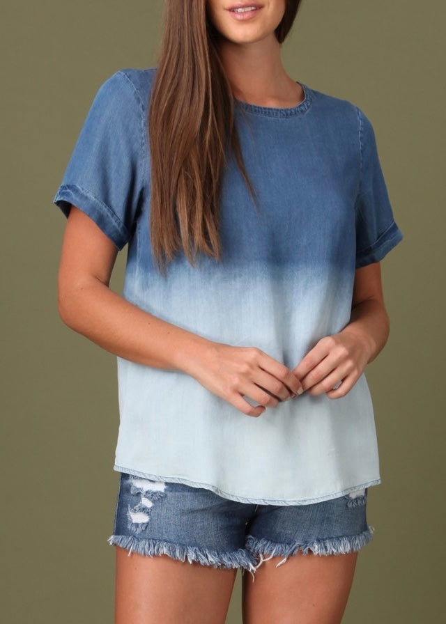 Ombre Denim Tee
