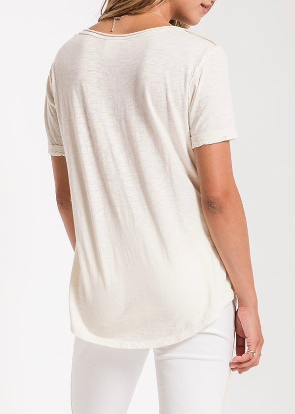 The Cotton Slub V-Neck Tee