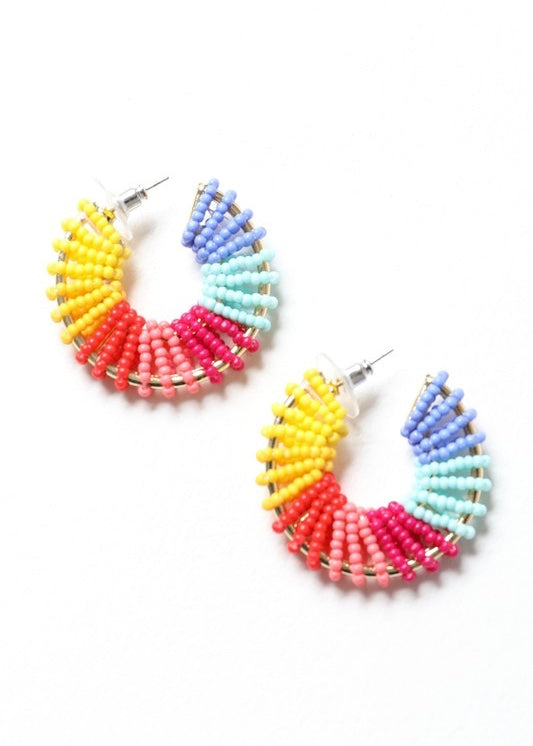 Colorful Beaded Hoop