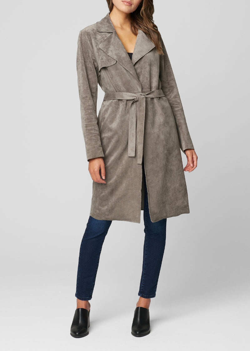Faux Suede Trench - Sage Threads & Co.