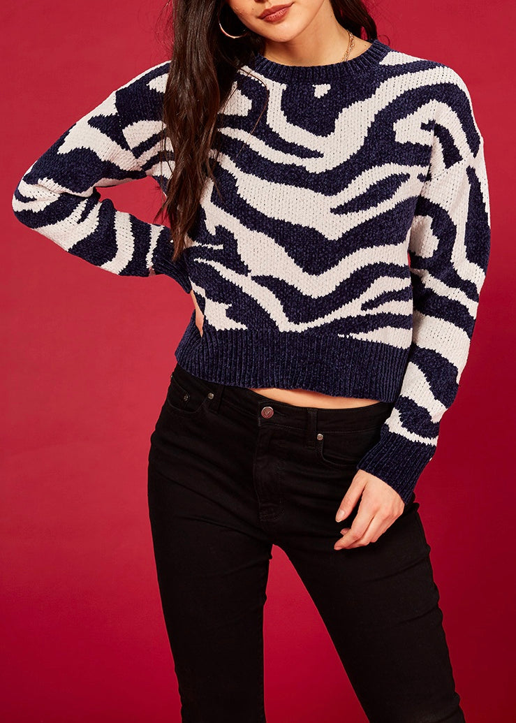 Animal Print Sweater, Zebra Print Sweater, Women's clothing store, fall trends