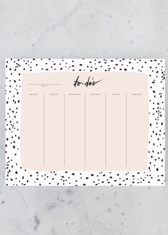 Speckled Weekly Pad